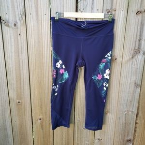 Gap Fit Eclipse Blue Floral Leggings Size M